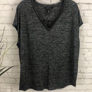 WHBM sleeveless black/gray top